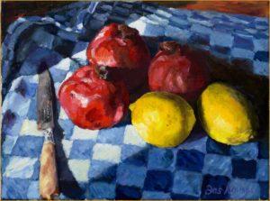 Granaatappels en citroenen