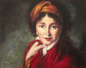 Rembrandtesque damesportret