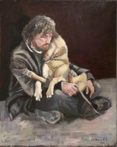 Zwerver met hond