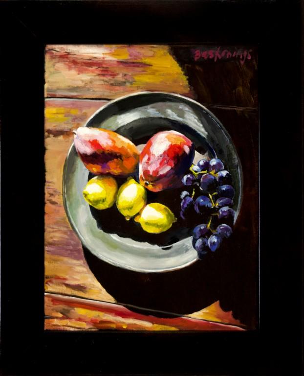 Fruitschaal met mango's