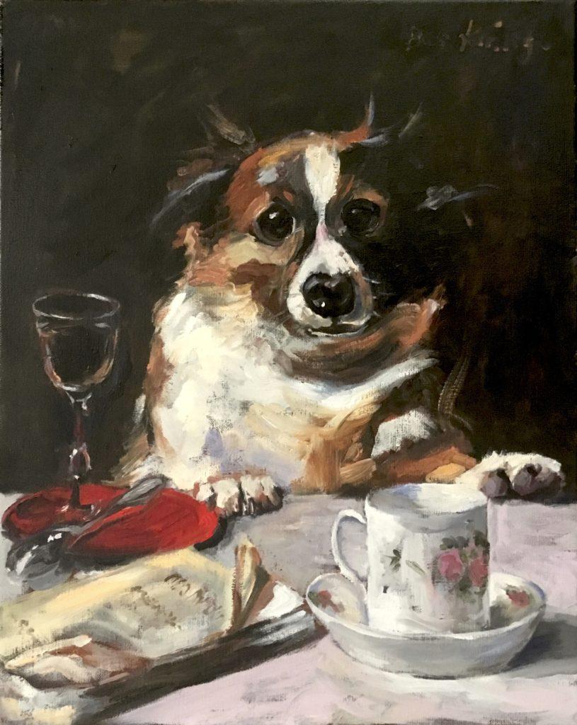 Hondenportret, ode Charles van den Eijcken