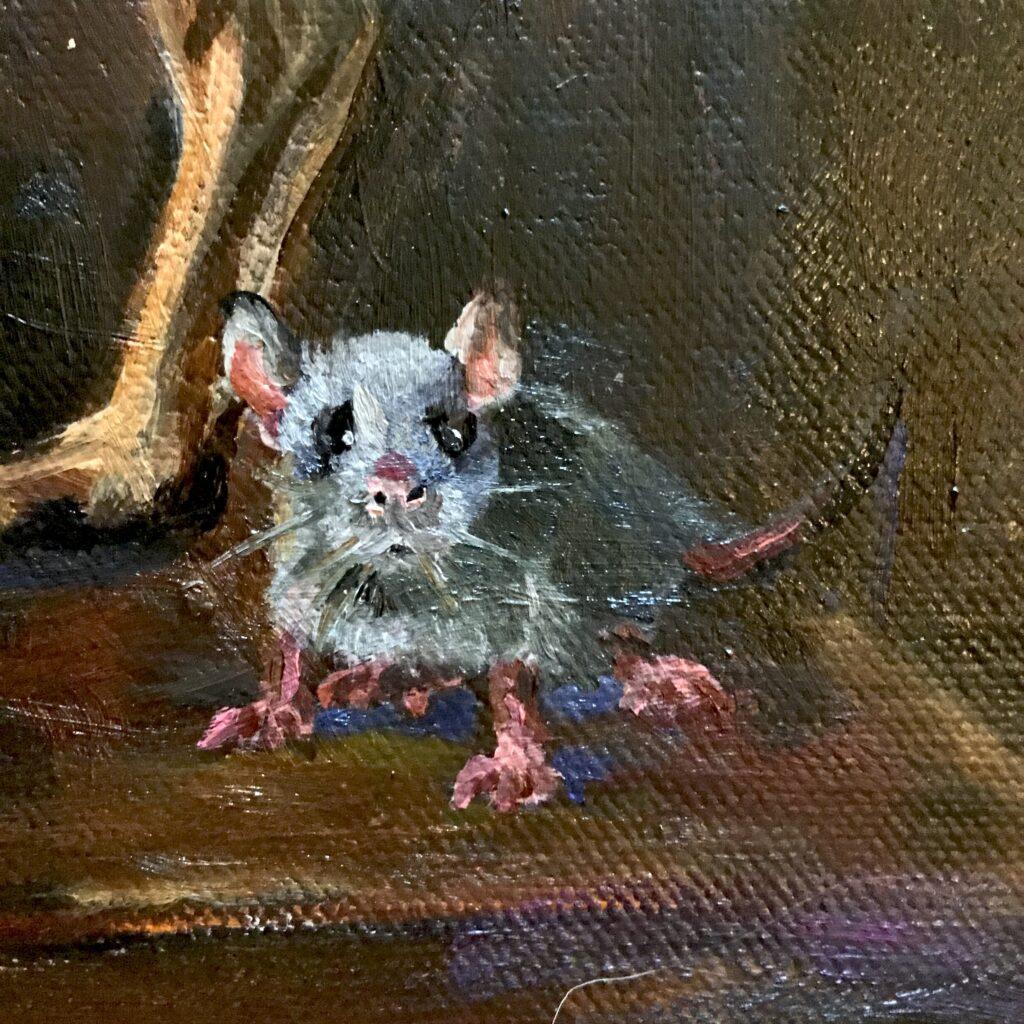 Bas Konings_Hazewindhond met muis detail