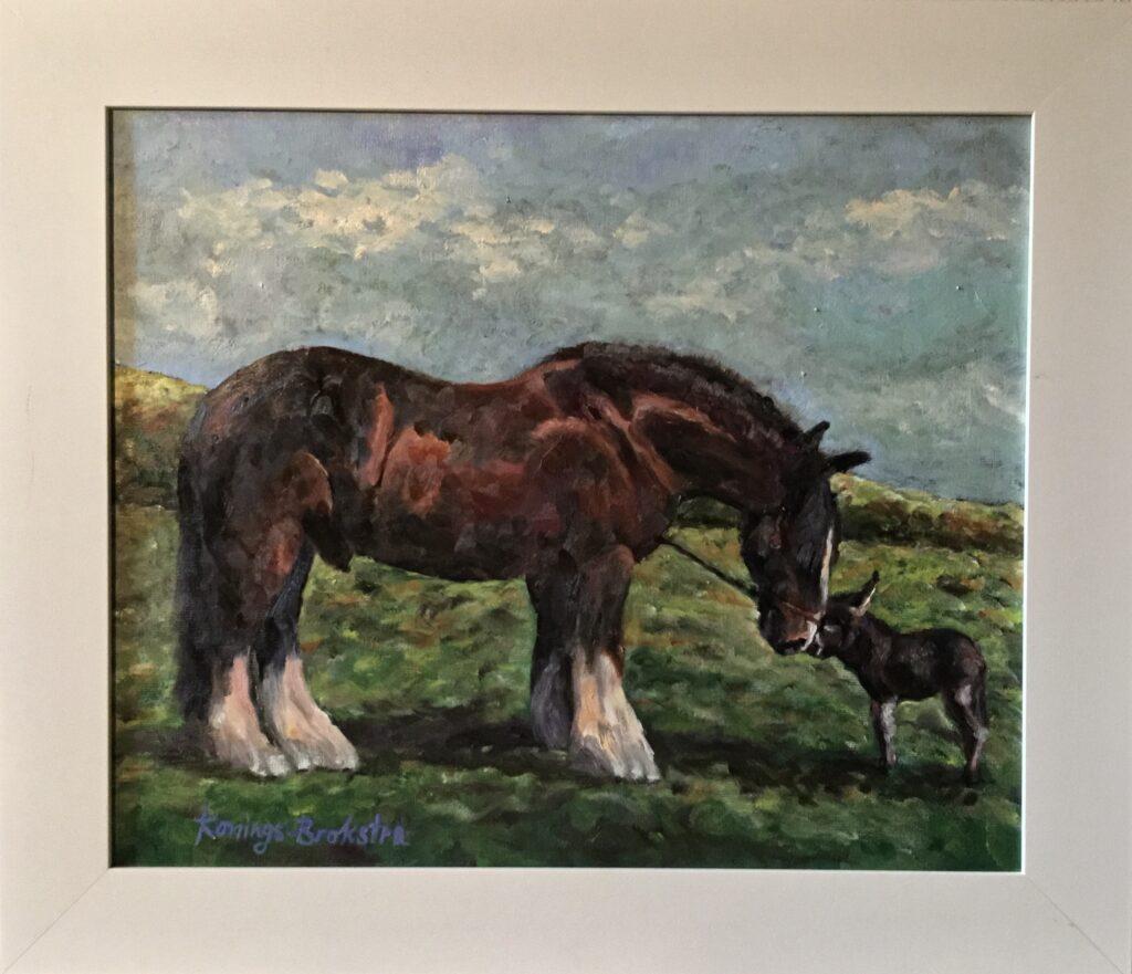 140920_Konings-Brokstra-Werkpaard met jong ezeltje-1