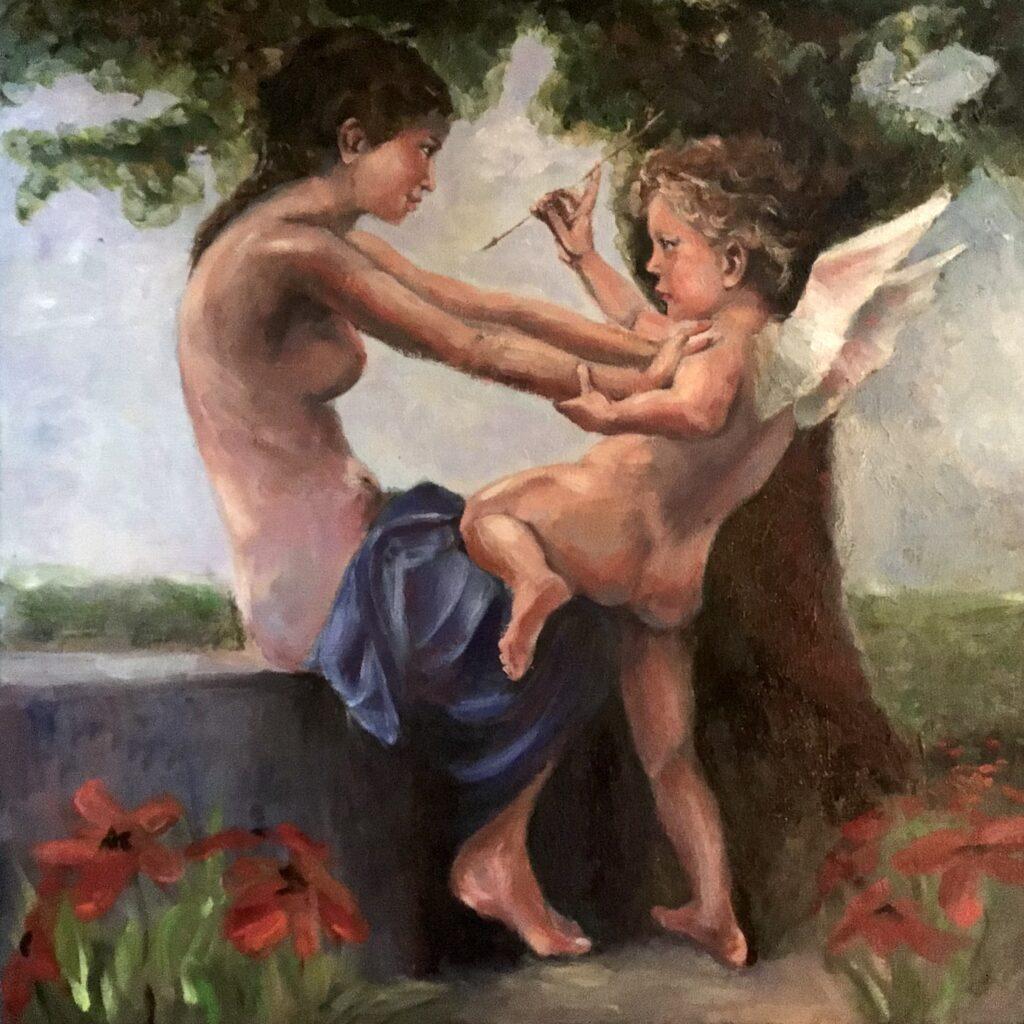 210621_Bas Konings-Cupido en Psyche- insp Bouguereau 50x50