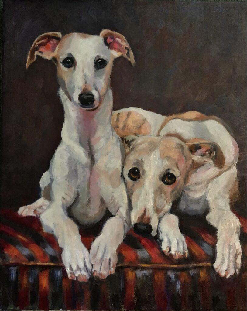 210621_Bas Konings-Twee witte honden 40x50