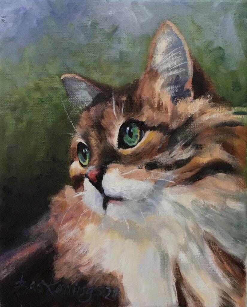 120821_ Bas Konings-Kat met groene ogen 24x30