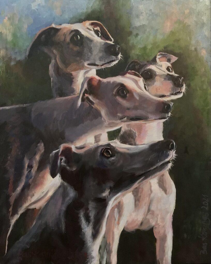 020921_Bas Konings-Vier honden 40x50